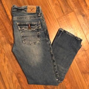 American Eagle 3/4 Jeans with Rhinestone Pockets
